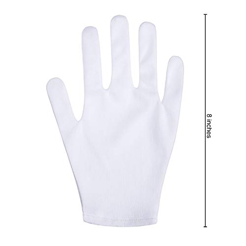 30 Pairs White Cotton Gloves White Work Gloves Coin Inspection Gloves Jewelry Gloves Stretchable Lining Gloves for Multi Function Using(60 Pieces) by Norme (Image #1)