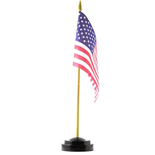 United States of America Desk Flag Free Stand Included American Flag Military Patriotic Gifts
