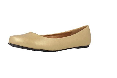 ANDRES mACHADO-ballerines femme-chaussures en or matelas grande taille rKdIv2PpV