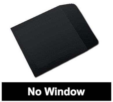 Mediaxpo Brand 100 Black Paper CD Sleeves with Flap (No Window)