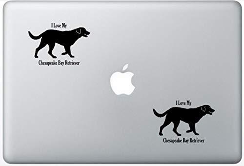 (I Love My Chesapeake Bay Retriever Decal PetsAffectionLaptop0269 Set of Two (2X), Dog Decal, Sticker, Laptop, Ipad, MacBook)