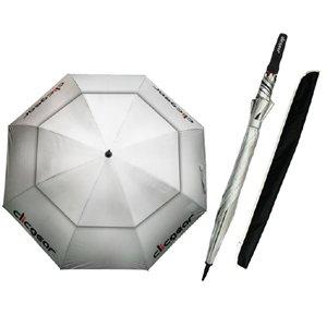 "Clicgear 68"" Double Canopy Golf Umbrella (Silver) - Silver Universal Canopy"