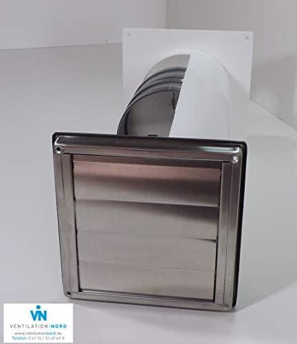 Muro Buzón Campana Acero inoxidable 150 mm Blower Door prueba Certificado vnesm150wsqle: Amazon.es: Grandes electrodomésticos