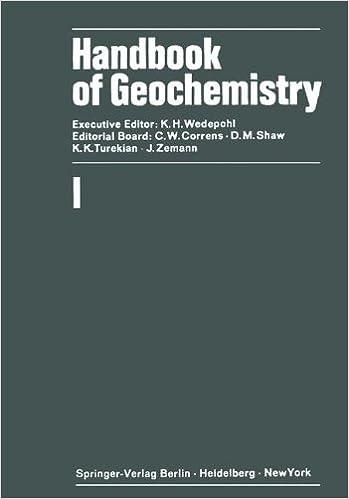 Handbook of Geochemistry, Vol. 1, K.H. Wedepohl