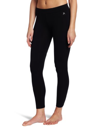Danskin Women's Essentials Ankle Legging, Black, -