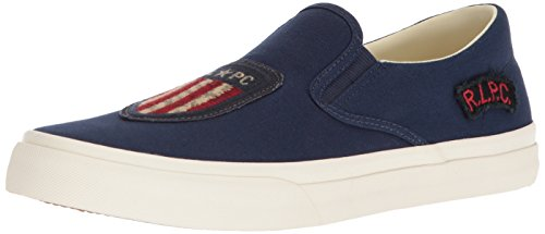 Polo Ralph Lauren Men's Thompson P Sneaker, Newport Navy, 10.5 D - Us Ralph And Lauren Polo