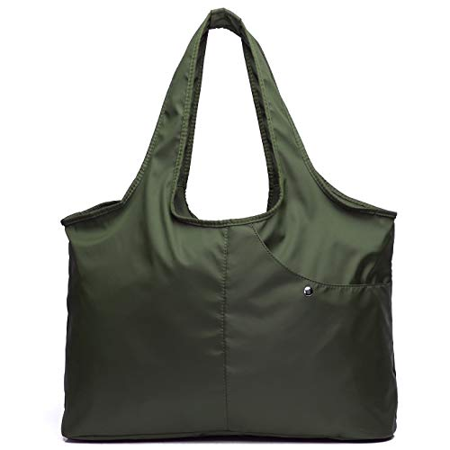 - Volcanic Rock Waterproof Shoulder Bag Lightweight Totes (8045_Army Green)