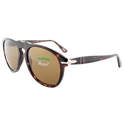 Persol Men's Classic Sunglasses, Havana/Brown Polar, One ()