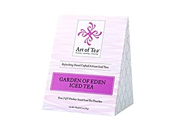 Art Of Tea 2 Quart Iced Tea Pouches   Garden Of Eden Organic Iced Black Tea