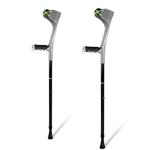 EGCLJ Reduction Crutches,Adjustable Crutches, Telescopic Forearm Crutch Assistance, Lightweight Walking ()