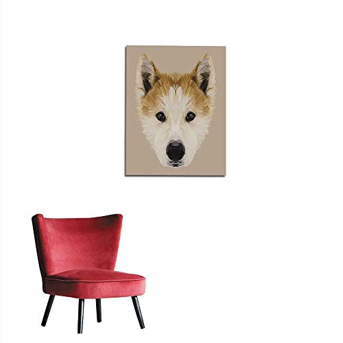 - Wall Sticker Decals Akita Inu Dog Low Poly Mural 32