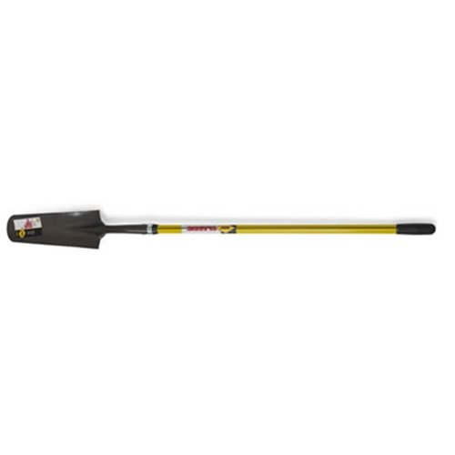 Nupla SS16L Sharp Shooter Drain Spade with 16 Gauge Hollow Back Blade and Butt Grip, 48'' Classic Handle, 4-3/4'' x 16'' Blade Size