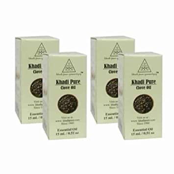 Amazon com : Khadi Pure Herbal Clove Essential Oil - 15 ml