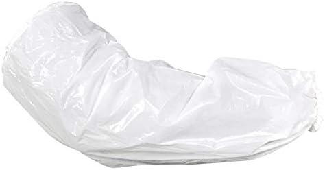 100枚ース使い捨てアームスリーブカバーアーム用防水保護スリーブ、キッチンクッキング用プラスチックオーバースリーブプロテクタ(白)
