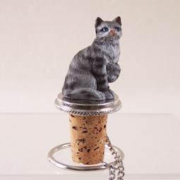 (Shorthair Silver Tabby Cat Wine Bottle Stopper - CTB01 by Conversation Concepts)