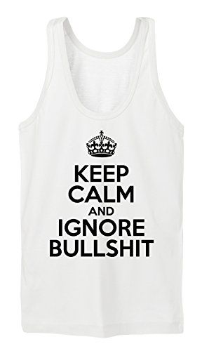 Keep Calm And Ignore Bullshit Tanktop Girls Blanc