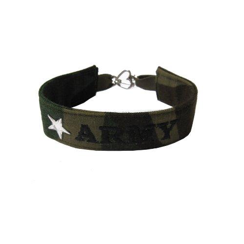 U.S Army Name Tape Military Bracelet, Army Camo Bracelet, Army Jewelry, Army Gifts