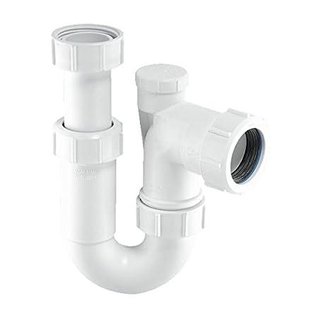 Etonnant McAlpine ASC10V 1.5 Inch Adjustable Inlet Tubular Swivel Anti Syphon U0027Pu0027  Trap