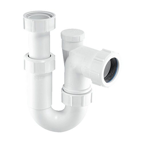 McAlpine Tubular de entrada de ASC10V ajustable de 1, 5pulgadas giratoria anti-syphon 'P' Trampa–Color blanco 5pulgadas giratoria anti-syphon 'P' Trampa-Color blanco ASC10V