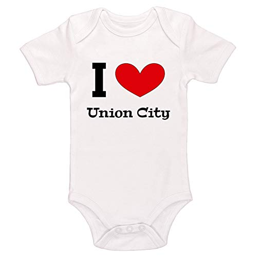 (Kinacle I Love Union City Baby Bodysuit (0-3 Months, White))