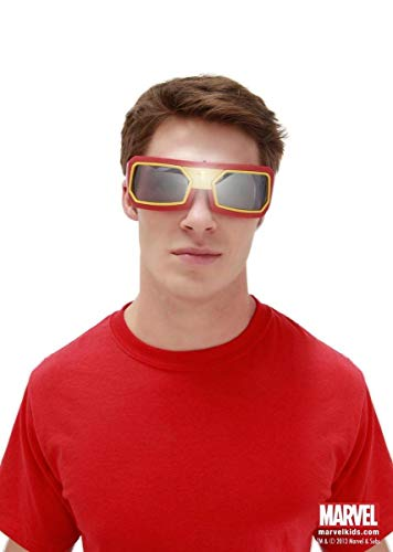 elope Marvel Iron Man Light Up Goggles, Red, One Size -