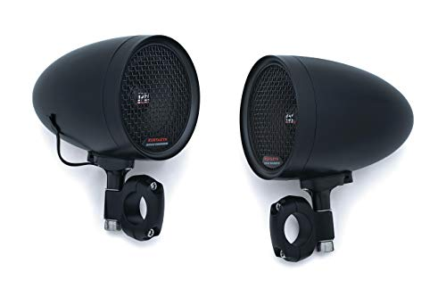 Kuryakyn 2711 Satin Black Motorcycle Audio, 2 Pack ()