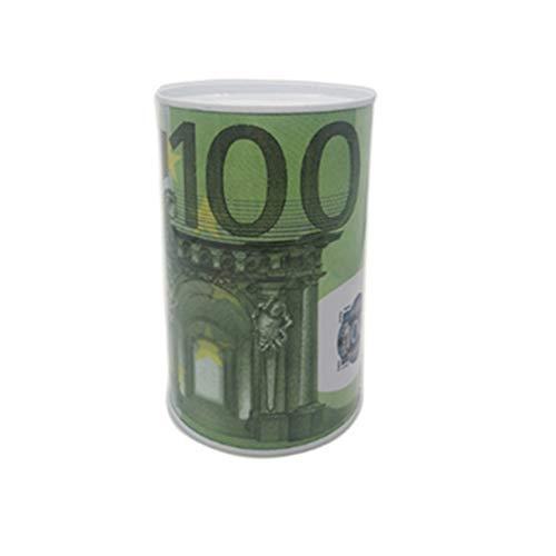 GOLD liu Euro Dollar Money Box Safe Cylinder Piggy Bank Banks for Coins Deposit Storage Boxes Home Decoration 10 20 50 100 10 - Cylinder Safe