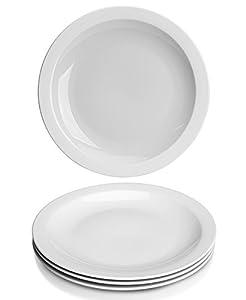 YHY 10.6 inch Porcelain Dinner Plates White Round Plate Set (4 Packs)  sc 1 st  Amazon.com & Amazon.com | YHY 10.6 inch Porcelain Dinner Plates White Round ...