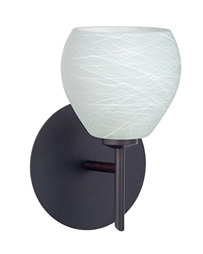 Besa Lighting 1SW-560560-LED-BR Besa, Tay Tay Mini Sconce, Cocoon, Bronze Finish, 1x5W LED - 560560 Br Cocoon