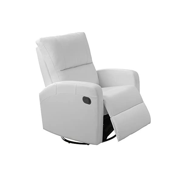 Monarch I 8084Wh Swivel Glider Recliner, White