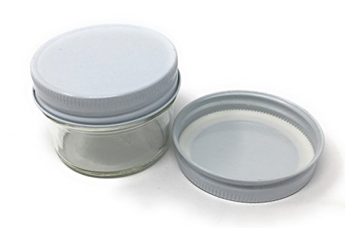 4 oz Mason Jar Clear Round Regular Mouth in Case of 12 (12 Pack) by Packaging For You (white)