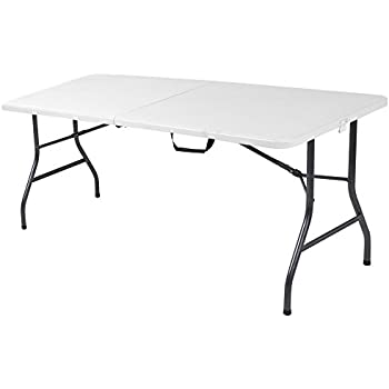 Cosco Deluxe 6 Foot X 30 Inch Fold In Half Blow Molded Folding Table