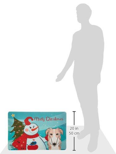 Carolines Treasures BB1848CMT Snowman with Borzoi Kitchen or Bath Mat Multicolor 20 by 30