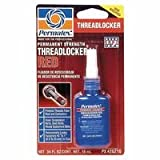 Permatex Permanent Strength Red Threadlocker, 10 mL, 3/8 in - 1 in (9 Pack)
