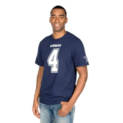 Dak Prescott Dallas Cowboys Navy Eligible Receiver Jersey Name and Number T-shirt XX-Large