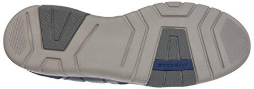 Dark 101 Vel de para Denim Azul Zapatos Neptune Hombre Canvas Derby Cordones 3 Stonefly wEqPHXOx