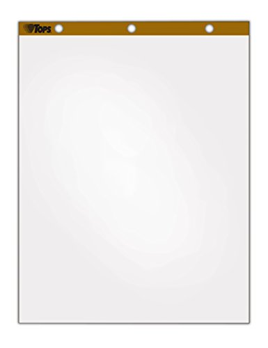 TOPS Standard Easel Pads, 3-Hole Punched, 27 x 34 Inch, Plain White, 50 Sheets/Pad, Carton of 4 Pads (7901)