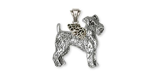Airedale Terrier Jewelry Sterling Silver Airedale Terrier Pendant Handmade Dog Jewelry AR6-AP