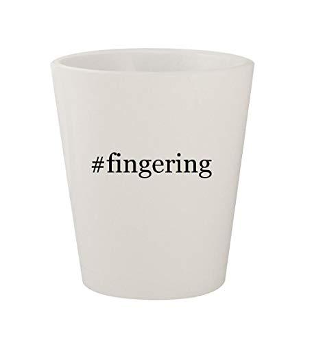 Price comparison product image #fingering - Ceramic White Hashtag 1.5oz Shot Glass