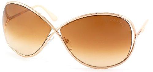 Tom Ford Sunglasses - Miranda / Frame: Shiny Rose Gold Lens: Brown - Gold Ford Tom