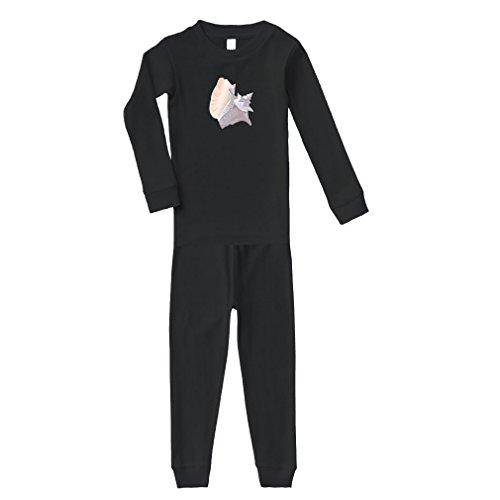 Seashell Exotic Pink Cotton Long Sleeve Crewneck Unisex Infant Sleepwear Pajama 2 Pcs Set Top and Pant - Black, 18 (Exotic Seashells)