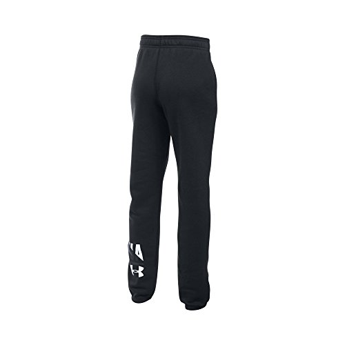 Under Armour Girls' Favorite Fleece Jogger - Youth Small - Black/White