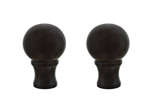 (Aspen Creative 24018-32 Steel Lamp Finial in Oil Rubbed Bronze Finish, 1 1/2