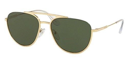 Prada Unisex 0PR 50US Gold/Green One - Prada Sunglasses Unisex