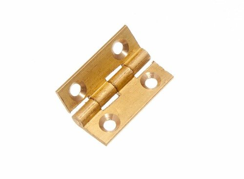 100 X Butt Hinge Door Box Extruded Brass 25Mm 1 Inch by DIRECT HARDWARE