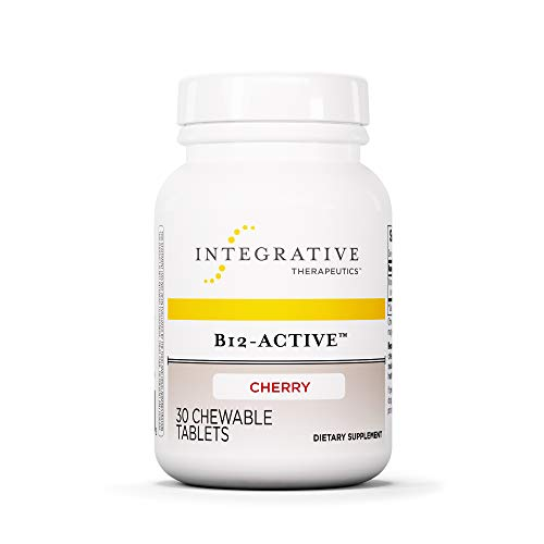 Integrative Therapeutics - B12-Active - Fast-Absorbing Methylcobalamin - Cherry Flavor - 30 Chewable Tablets Chewable Cherry 30 Tabs