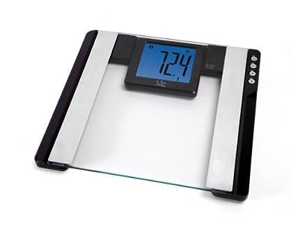 Jata Hogar 565NG - Báscula electrónica, analizador fitness, visor XXL, 150 kg,