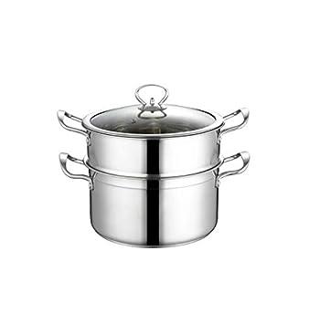 SHENGSHIHUIZHONG Vaporera de acero inoxidable para el hogar ...