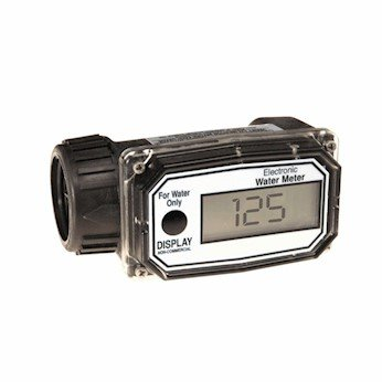 GPI 113255-4, 01N31GM Nylon Turbine Water Flowmeter with Digital LCD Display, 3-30 GPM, 1-Inch FNPT Inlet/Outlet by GPI (Image #1)