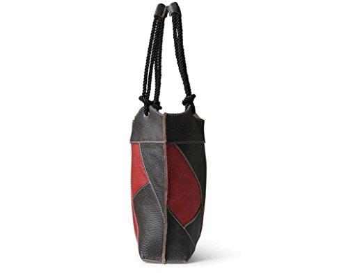 Leisure Black Bao Oblique in Simple Cube Red Ladies Plaid Coffee pelleTracollaMessengerShoppingViaggioLavoroDiagonal BagBorsa bf7ygvY6